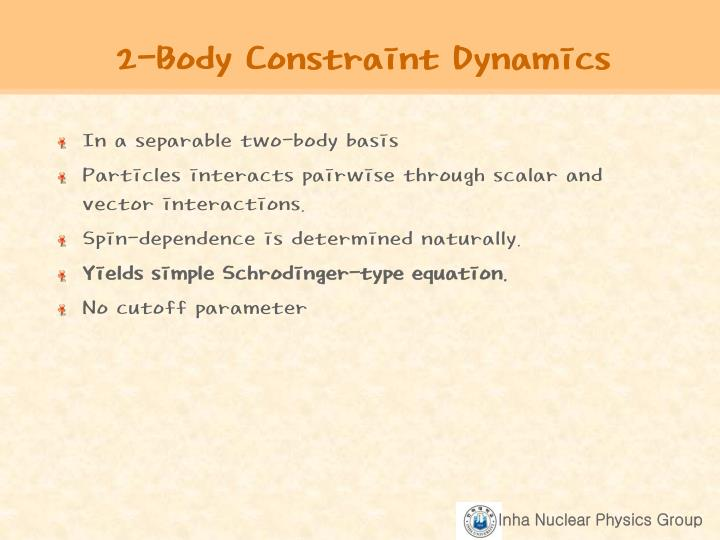 2 body constraint dynamics