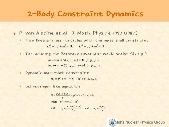 2-Body Constraint Dynamics