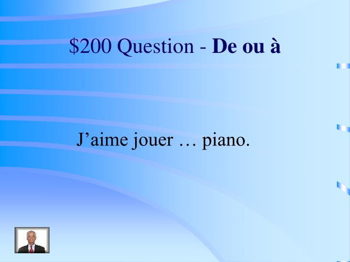 $200 Question -