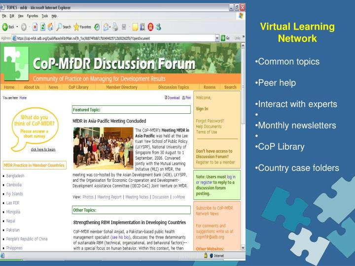 Virtual Learning Network