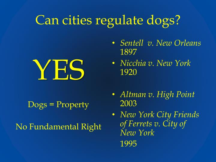 Can cities regulate dogs?