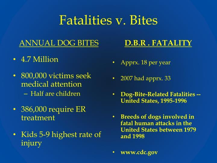 Fatalities v. Bites