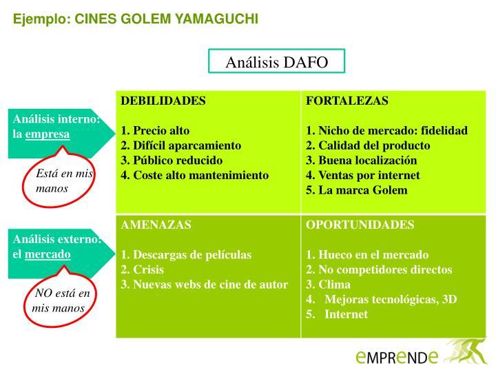 Ejemplo: CINES GOLEM YAMAGUCHI