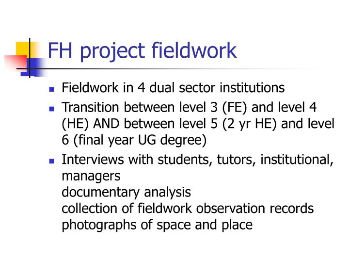 FH project fieldwork