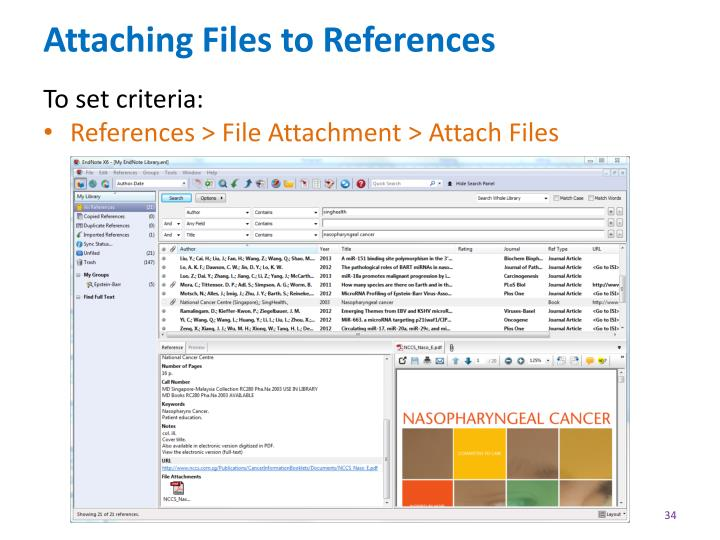 Attaching Files to References