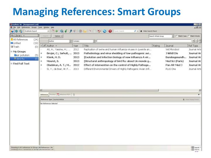 Managing References: Smart Groups