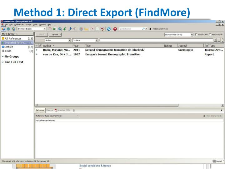 Method 1: Direct Export (FindMore)