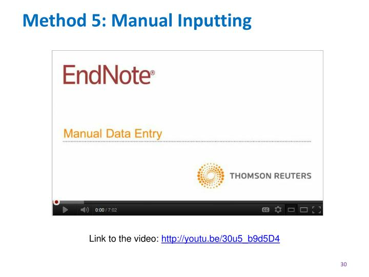 Method 5: Manual Inputting