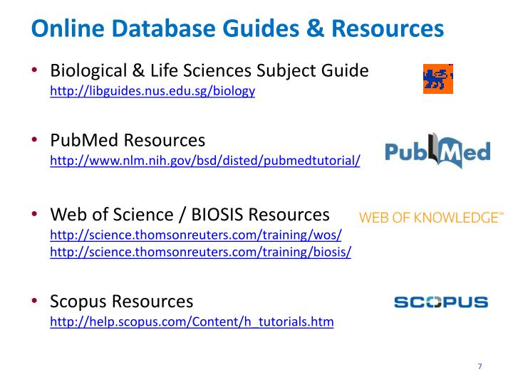 Online Database Guides & Resources