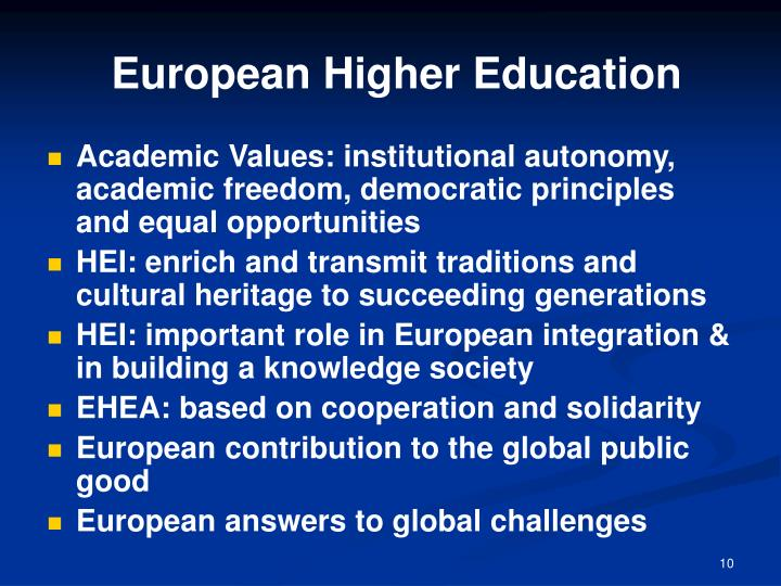 European Higher Education