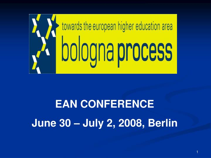 EAN CONFERENCE