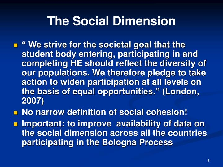The Social Dimension