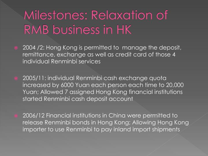 Milestones: Relaxation