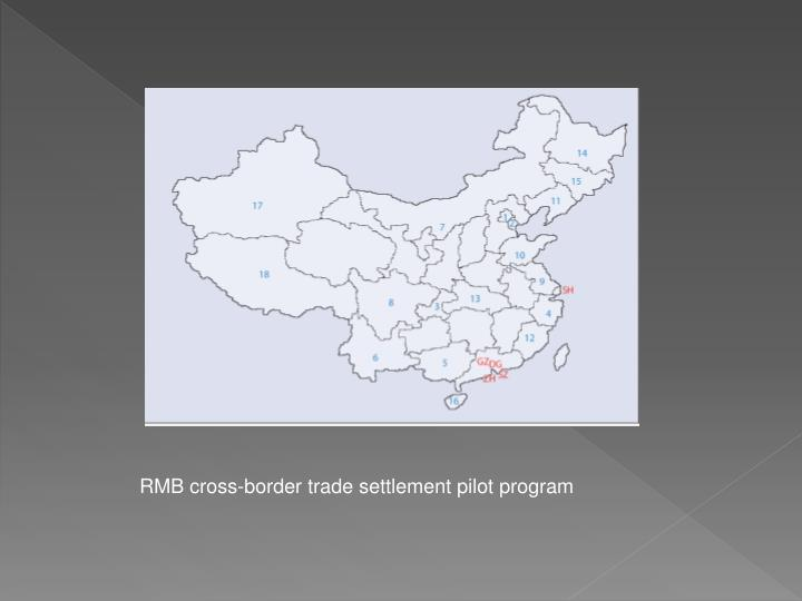 RMB cross-border trade settlement pilot program