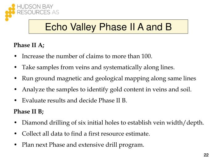 Echo Valley Phase II A and B