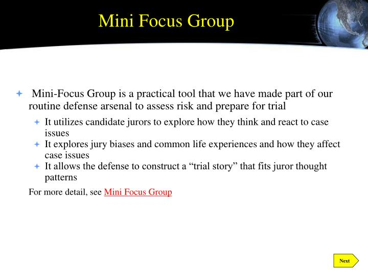 Mini Focus Group
