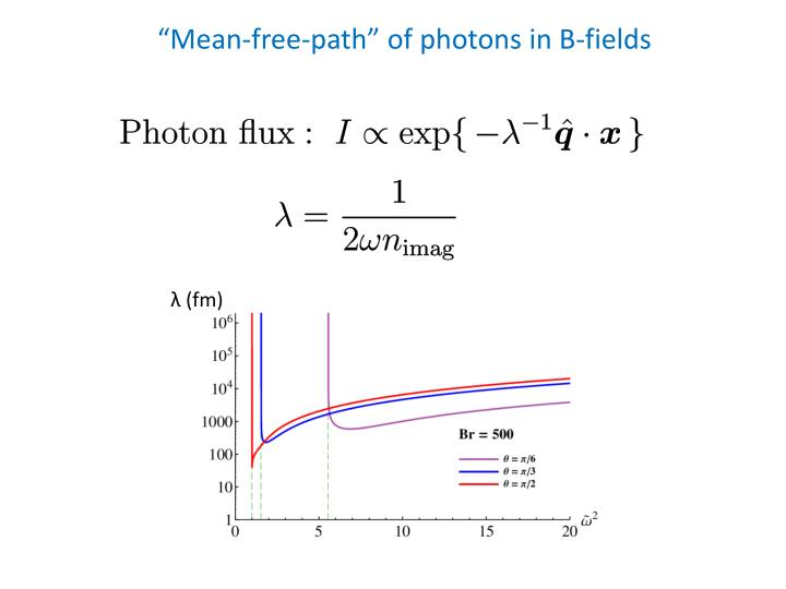 """Mean-free-path"" of photons in B-fields"