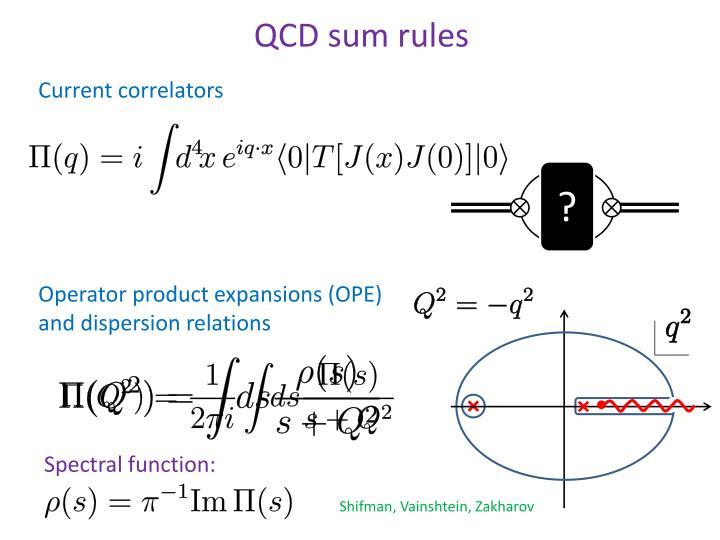 QCD sum rules
