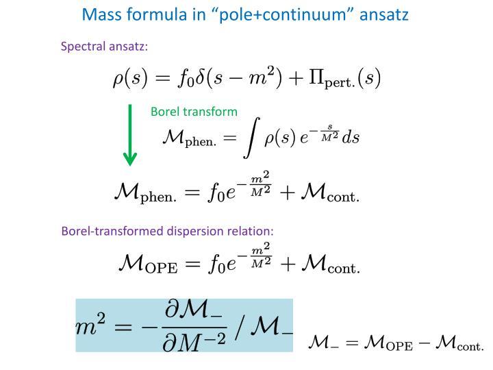 """Mass formula in """""""