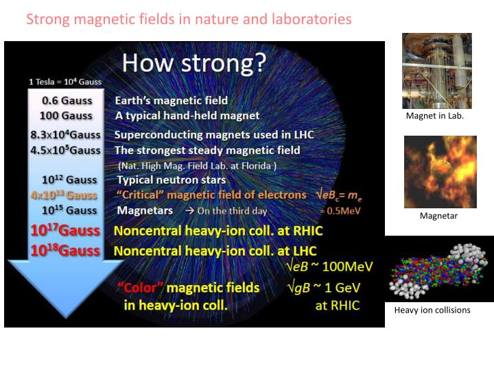 Strong magnetic fields