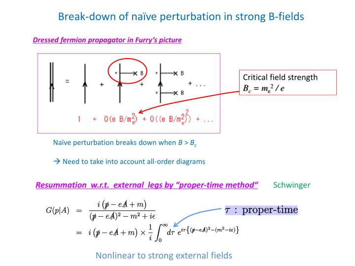 Break-down of naïve perturbation in strong