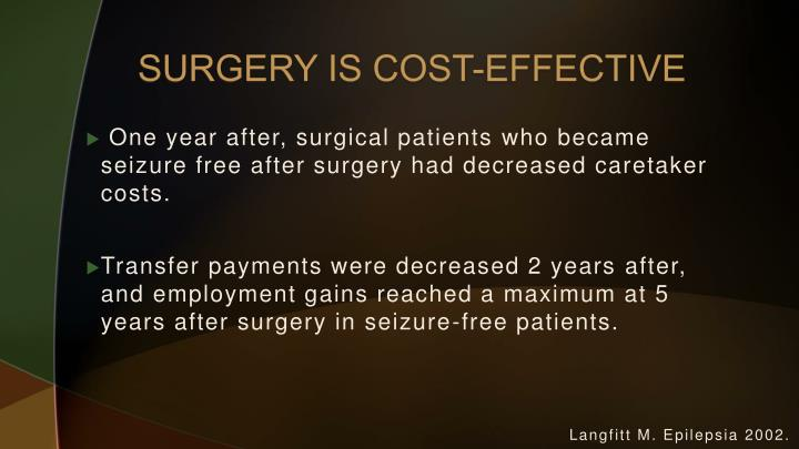 SURGERY IS COST-EFFECTIVE