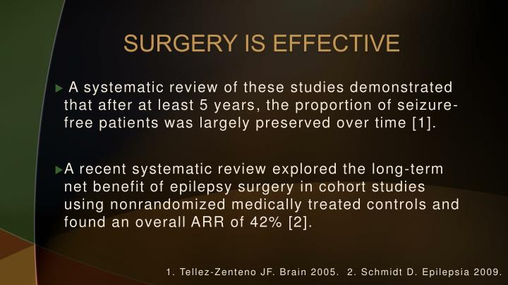SURGERY IS EFFECTIVE