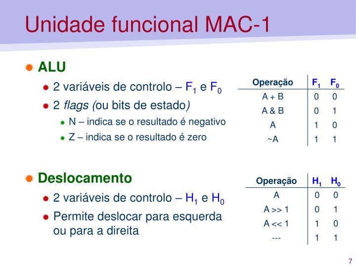 Unidade funcional MAC-1