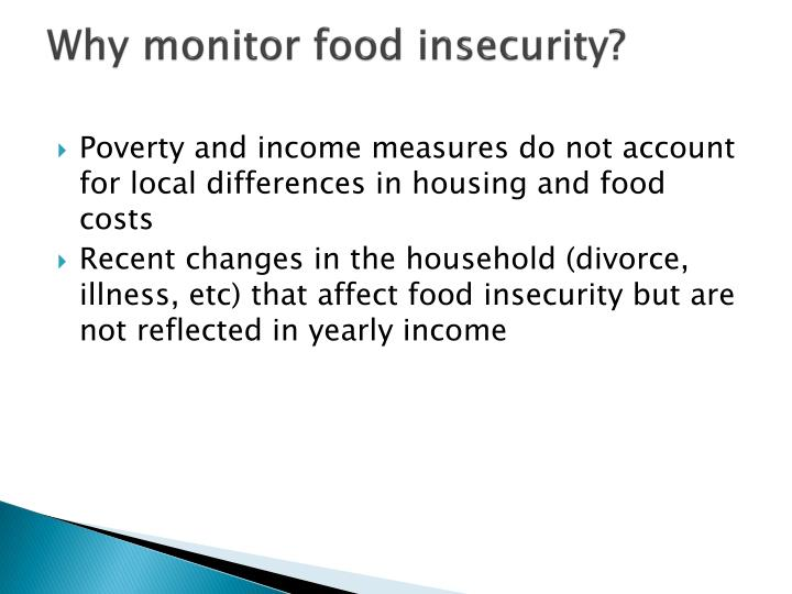 Why monitor food insecurity?