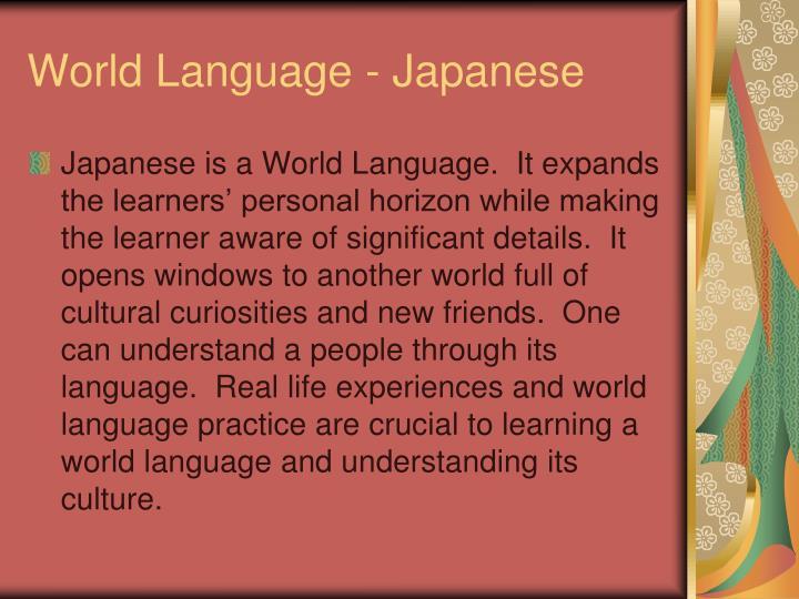 World Language - Japanese