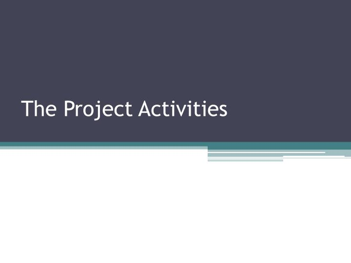 The Project Activities