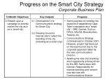 progress on the smart city strategy corporate business plan2