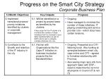 progress on the smart city strategy corporate business plan4