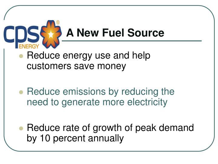 A New Fuel Source