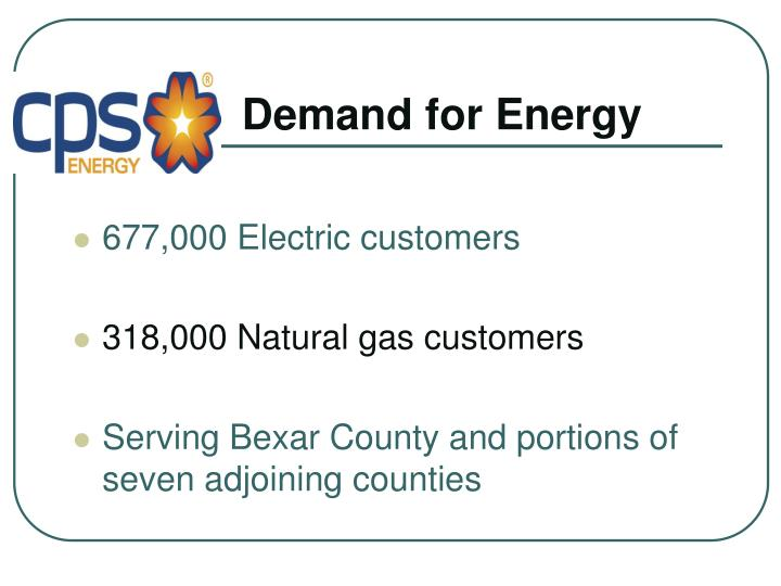 Demand for Energy