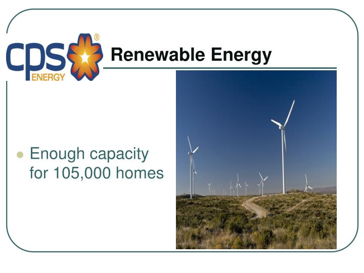 Enough capacity for 105,000 homes