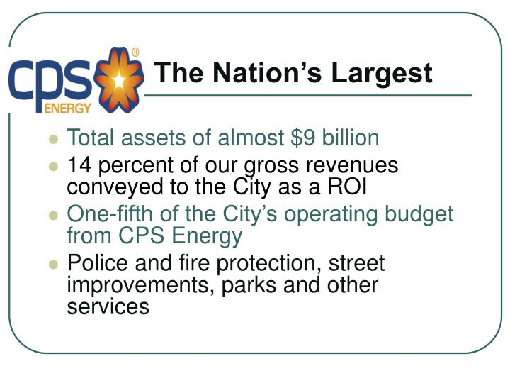 The Nation's Largest