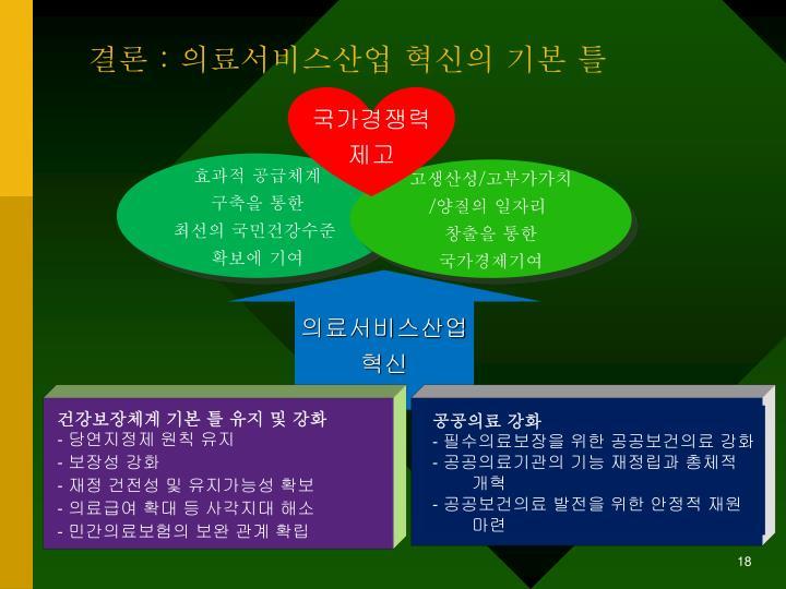 건강보장체계 기본 틀 유지 및 강화