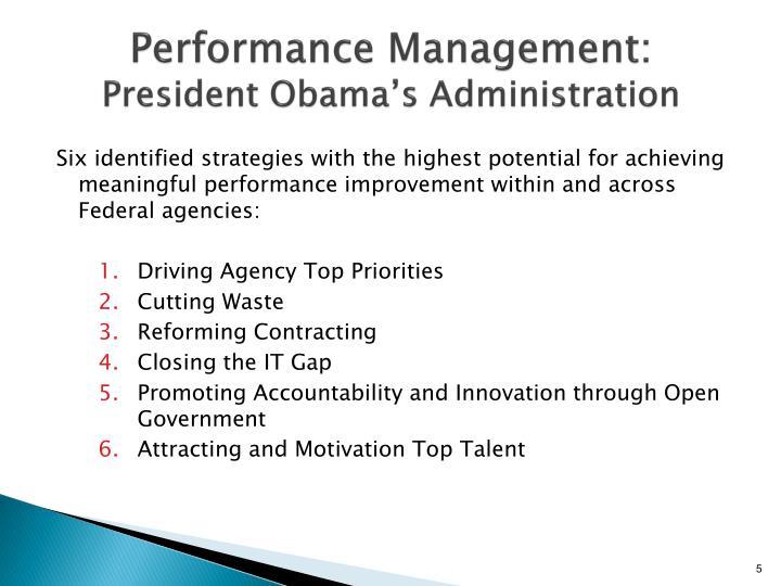 Performance Management: