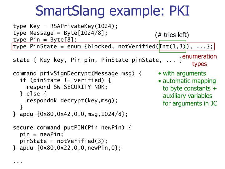 SmartSlang example: PKI