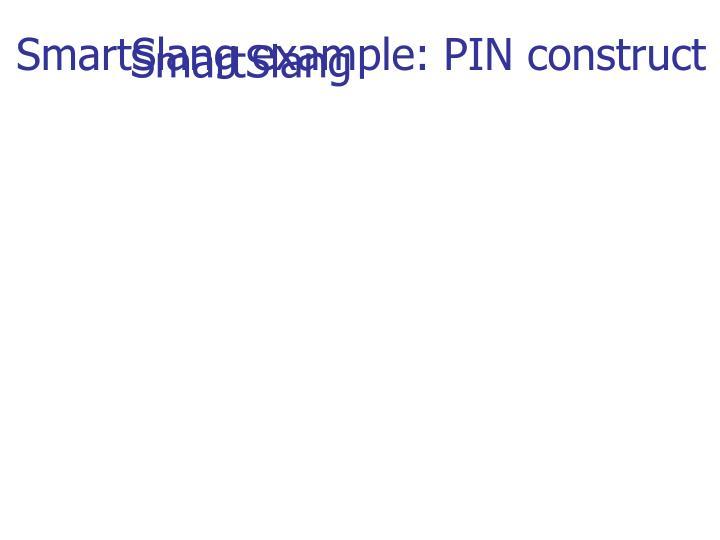 SmartSlang example: PIN construct