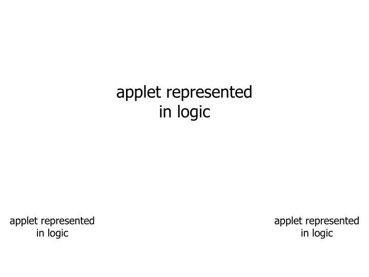 applet represented