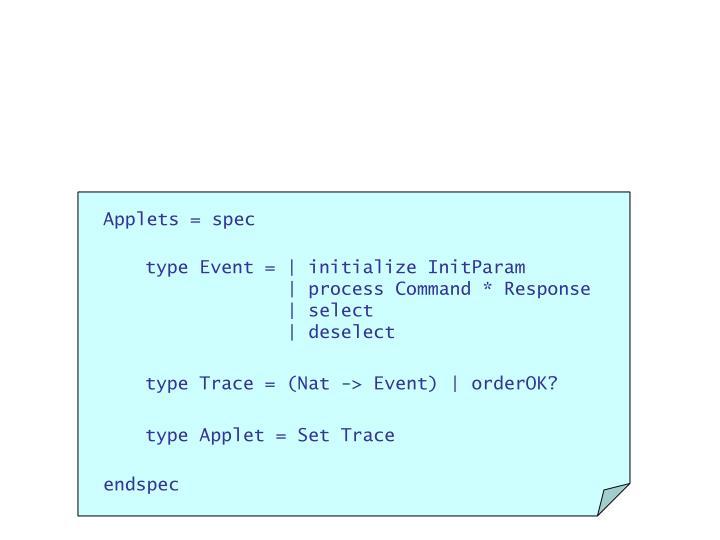Applets = spec