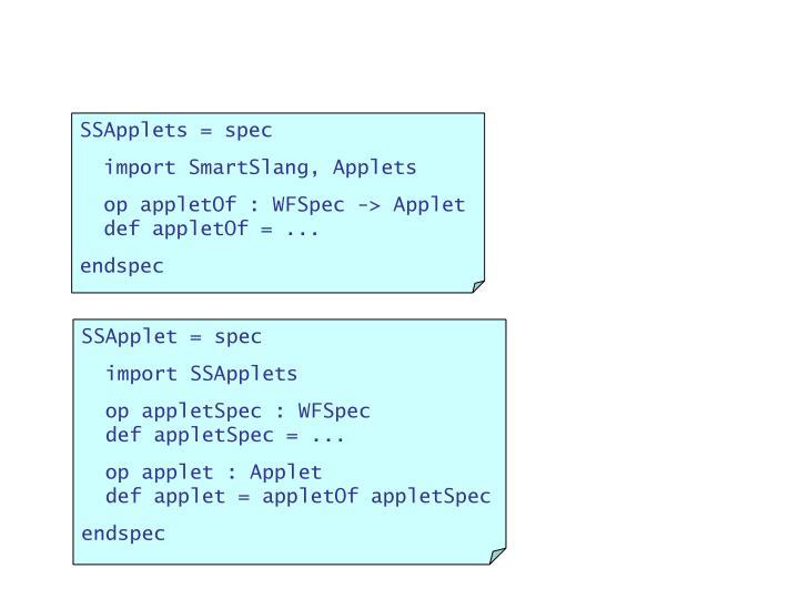 SSApplets = spec