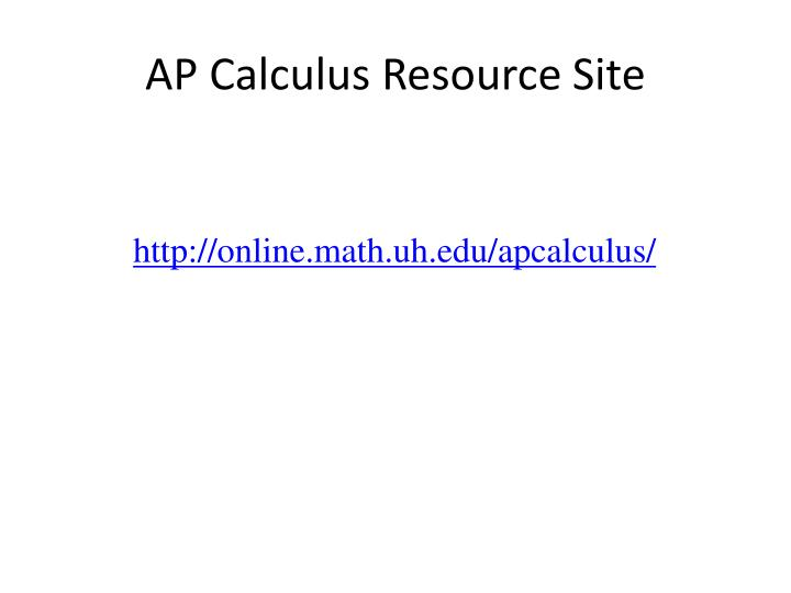 Ap calculus resource site
