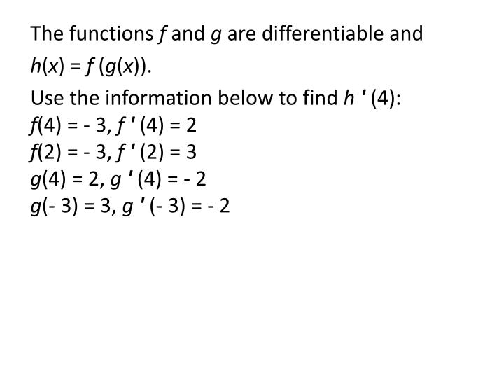 The functions