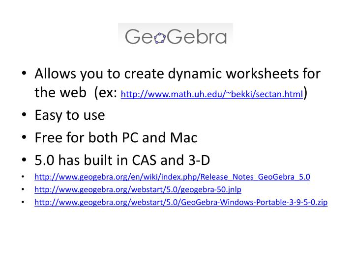 Allows you to create dynamic worksheets for the web  (ex: