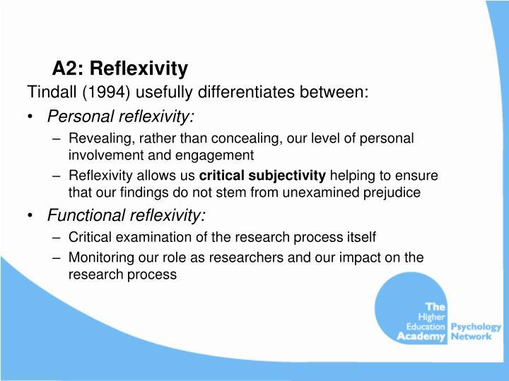 A2: Reflexivity