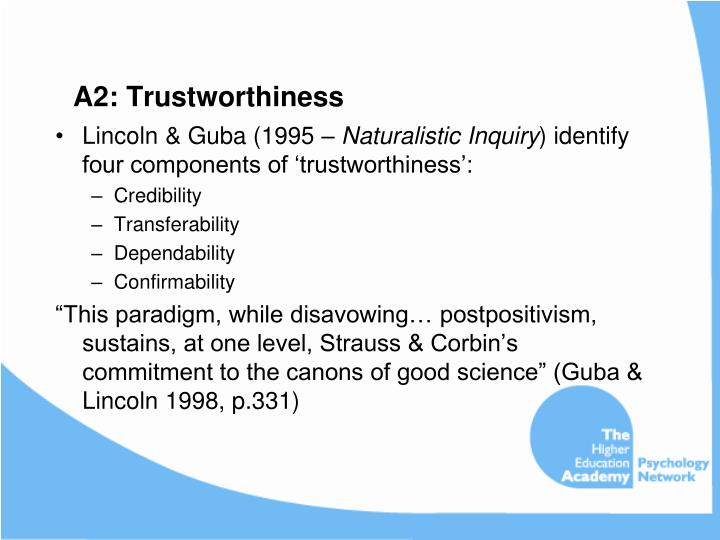 A2: Trustworthiness
