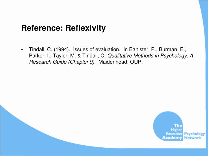 Reference: Reflexivity